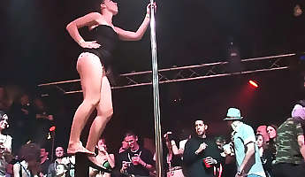 Sexy girls dance on the pole